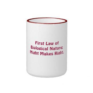 Ridicules natural law theory mugs