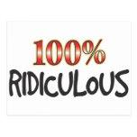 Ridiculous 100 Percent. Postcard