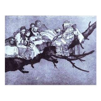 Ridiculous dream by Francisco Goya Post Card