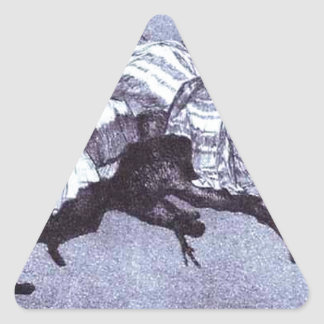 Ridiculous dream by Francisco Goya Triangle Sticker