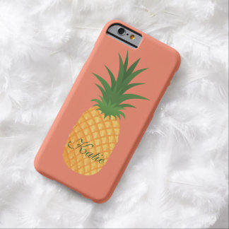 Ridiculously Cute Retro Pineapple Graphic Fruity Barely There iPhone 6 Case