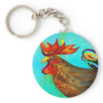 Ridiculously Handsome Rooster Keychain