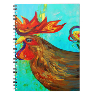 Ridiculously Handsome Rooster Spiral Notebook