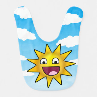 Ridiculously happy sun baby bibs