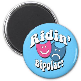 Ridin' Bipolar 2 Inch Round Magnet