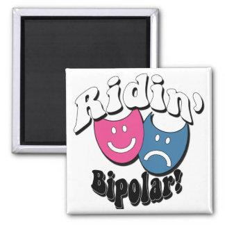 Ridin' Bipolar 2 Inch Square Magnet