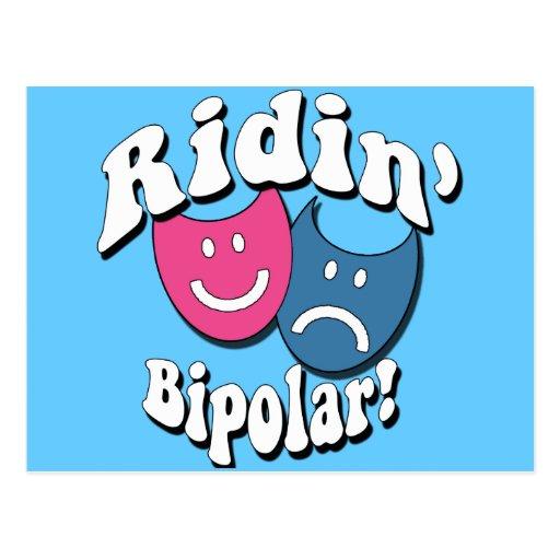 Ridin' Bipolar Postcard