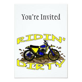 Ridin Dirty Dirt Bike In Mud Card