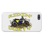 Ridin Dirty Dirt Bike In Mud Cover For iPhone 5