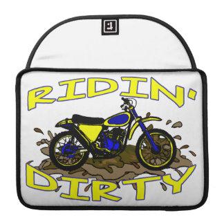 Ridin Dirty Dirt Bike In Mud MacBook Pro Sleeves