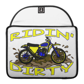 Ridin Dirty Dirt Bike In Mud Sleeve For MacBook Pro