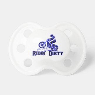 Ridin Dirty Dirt Bike Rider BooginHead Pacifier
