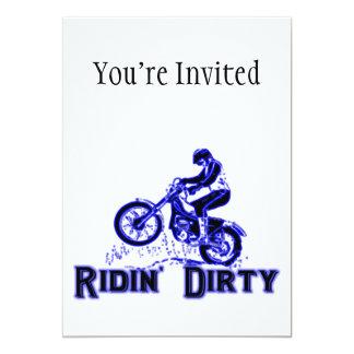 Ridin Dirty Dirt Bike Rider Card