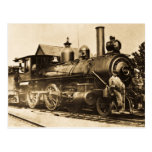 Ridin que entrena al ferrocarril del vintage tarjetas postales