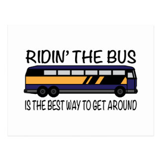 Ridin the Bus Postcard