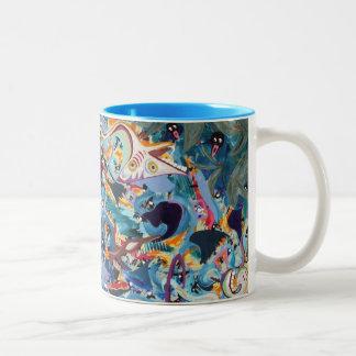 Ridin' the River Two-Tone Coffee Mug