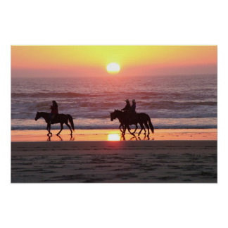 Ridin' The Sunset Poster