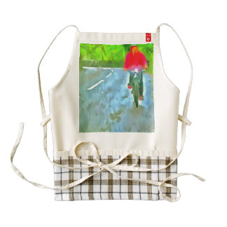 Riding a bicycle zazzle HEART apron