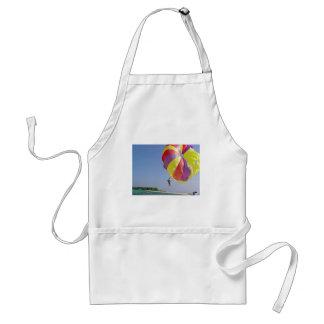 Riding a colorful parasail adult apron