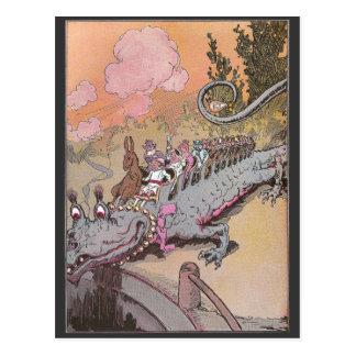 Riding a Dragon Vintage Oz Illustration Postcard