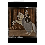 Riding a Horse in the Forest Greeting Card