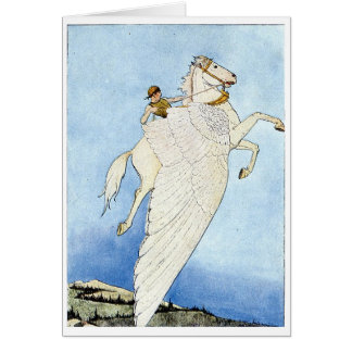 Riding a Winged Horse Card