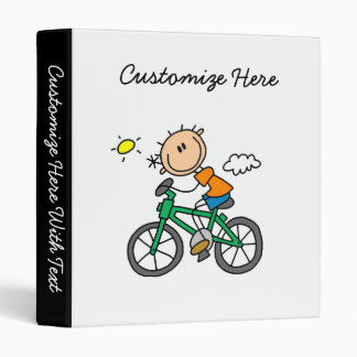 Riding Bicycle - Male 3 Ring Binder