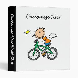 Riding Bicycle - Male 3 Ring Binder