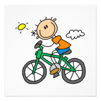 Riding Bicycle - Male Custom Invitations