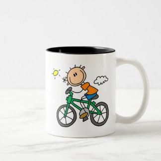 Riding Bicycle - Male Coffee Mugs