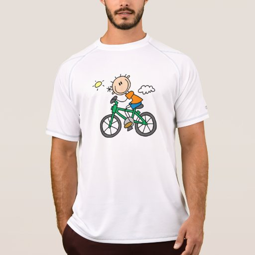 Riding Bicycle - Male T Shirts