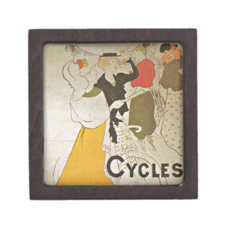 Riding Bicycles in Paris France Jewelry Box