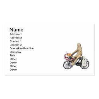 Riding Bike Basket Food Business Card