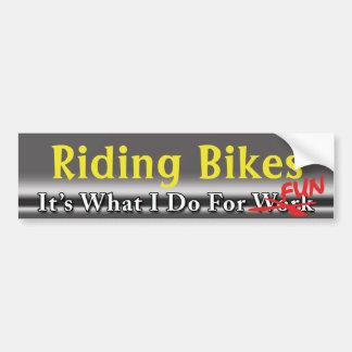 Riding Bikes - What I Do For FUN Sticker