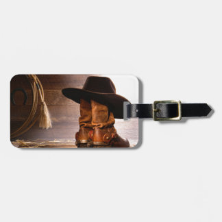 Riding Boots and Cowboy Hat Bag Tag