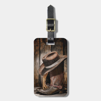 Riding Boots and Cowboy Hat Bag Tags