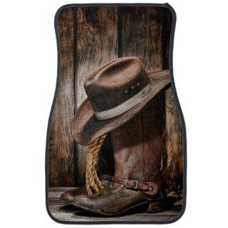 Riding Boots and Cowboy Hat Car Floor Mat