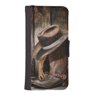Riding Boots and Cowboy Hat iPhone SE/5/5s Wallet