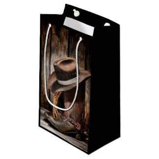Riding Boots and Cowboy Hat Small Gift Bag