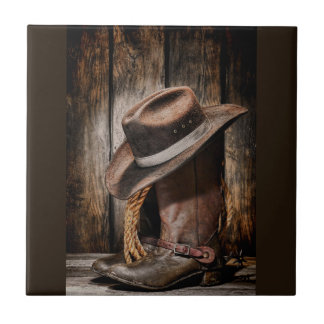 Riding Boots and Cowboy Hat Tile