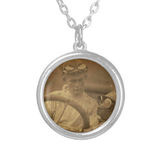 Riding Buddy Round Pendant Necklace