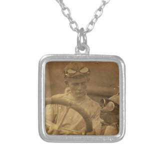 Riding Buddy Square Pendant Necklace
