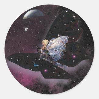 Riding Butterflies! Classic Round Sticker