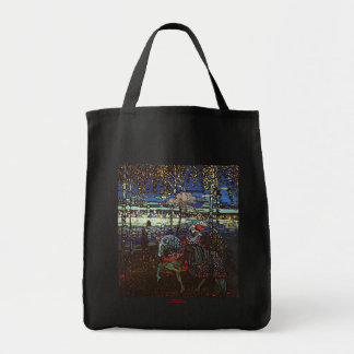 Riding Couple by Wassily Kandinsky 1907 Grocery Tote Bag