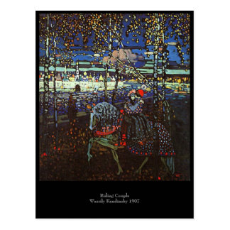 Riding Couple by Wassily Kandinsky 1907 Postcard