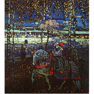 Riding Couple by Wassily Kandinsky 1907 Statuette