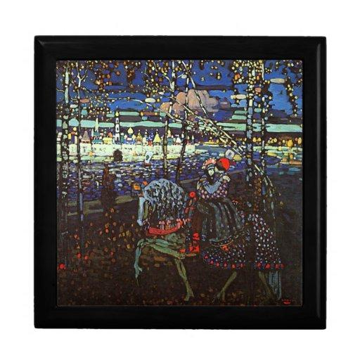 Riding Couple by Wassily Kandinsky Keepsake Box