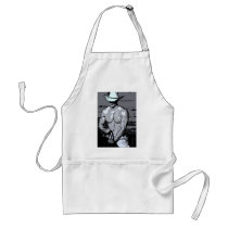 Riding Cowboy Adult Apron