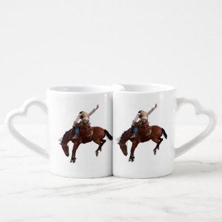 Riding Cowboy Coffee Mug Set
