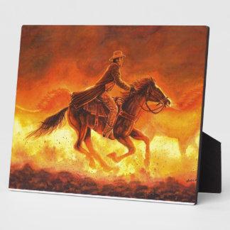 Riding Cowboy Plaque